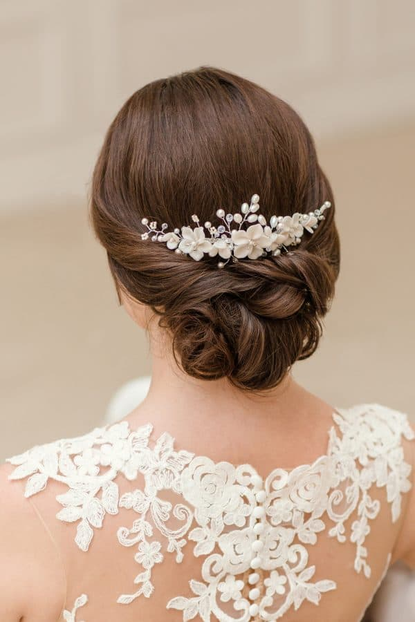 wedding comb, bridal hair comb, flower hair comb, bridal hair accessories, romantic bridal haircomb