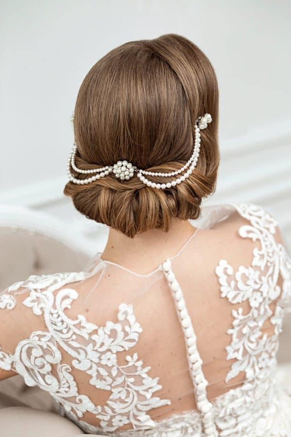 accesorii păr mireasă, accesorii par vintage, accesorii par perle, accesoriu par coc, coc spaniol