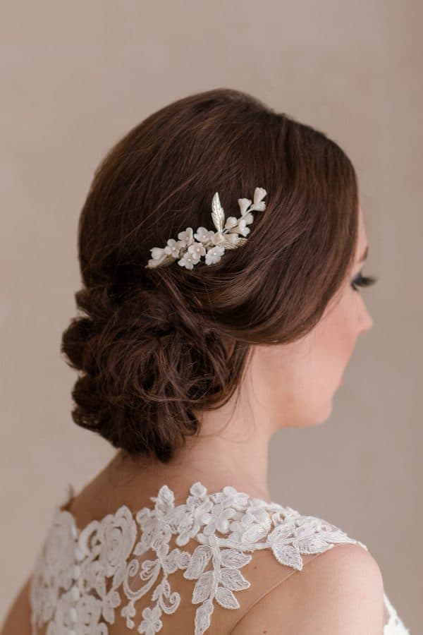 wedding comb, bridal hairpiece, bridal hair comb, flower hair comb, bridal hair accessories