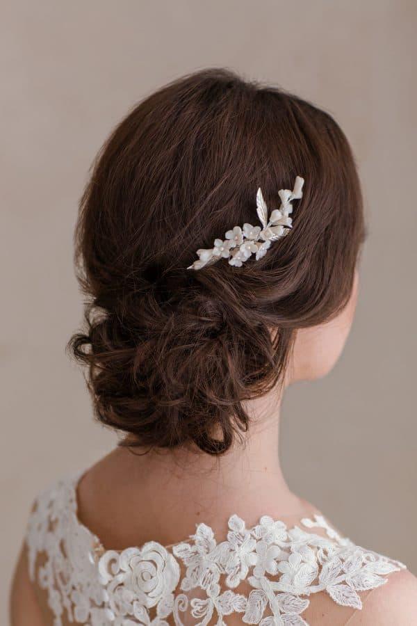 accesorii păr mireasa, pieptene flori mireasa, pieptene mirese, pieptene romantic, accesorii par nunta