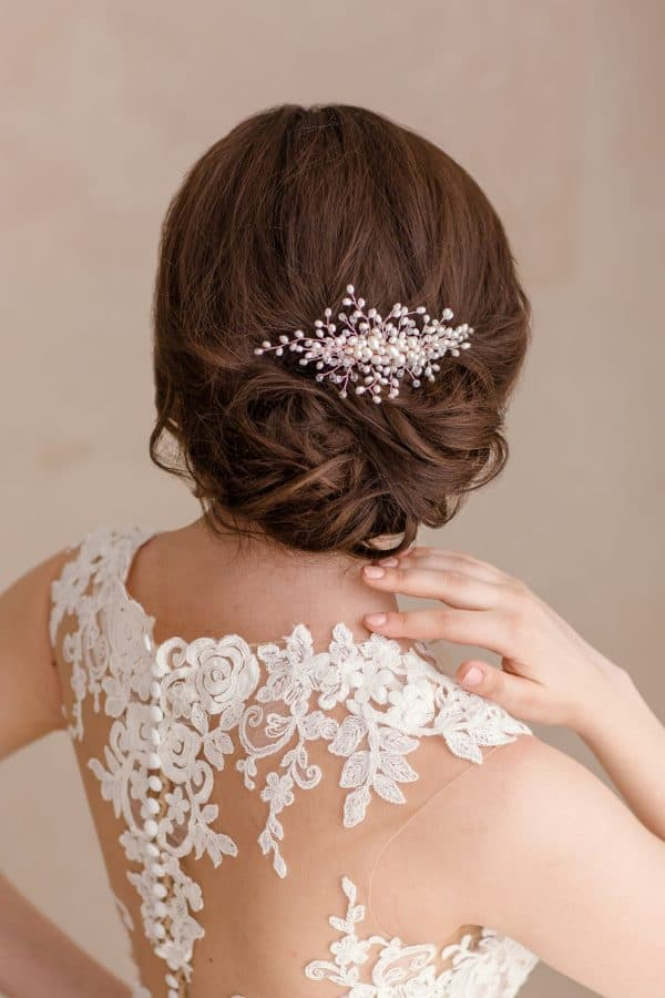 pearl bridal haircomb, wedding headpiece, bridal hair comb, rose gold hair comb, wedding hair pieces