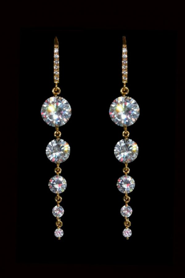 bijuterii mireasa, cercei mireasa, cercei lungi mireasa, cercei statement cristal, bijuterii cristale mirese