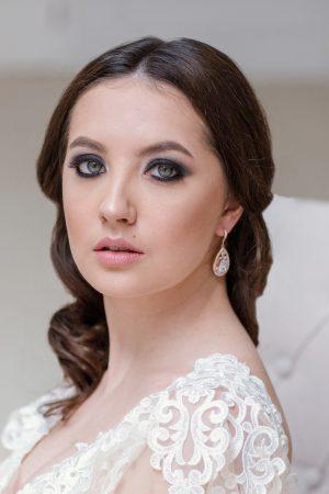 crystal bridal earrings, rose gold drop earrings, rose gold jewelry, teardrop earrings, wedding jewelry