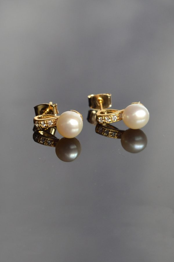 bijuterii perle mireasa, cercei micuti perle, set perle mireasa, cercei perle mireasa, bijuterii pentru mirese