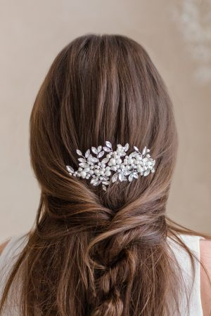 crystal bridal headdress, silver bridal headpiece, statement headdress, wedding hair accessories, bridal hair accessories
