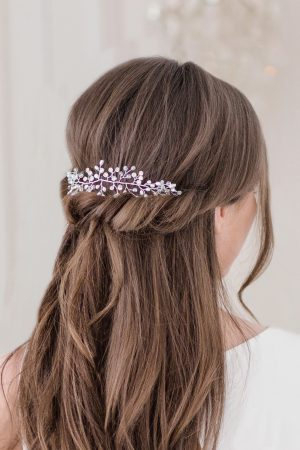 silver bridal headdress, wedding hair accessory, pearl wedding hair piece, bridal hair accessories, wedding hair pieces
