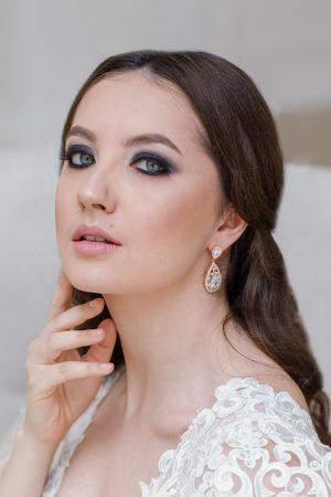 crystal wedding jewelry, rose gold bridal earrings, silver wedding earrings, crystal bridal jewelry, crystal bridal earrings