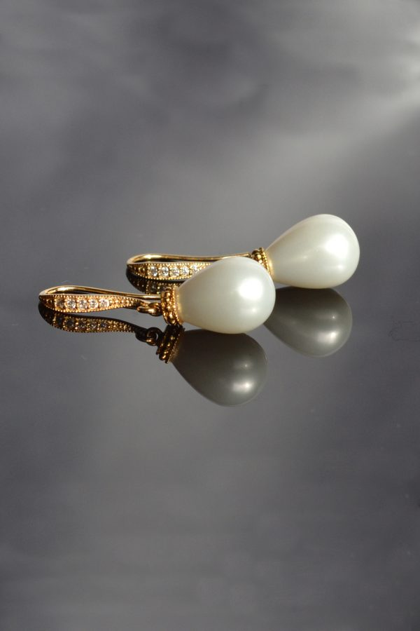 bijuterii perle mireasa, cercei domnisoara onoare, cercei perle, cercei perle clasici, cercei mireasa