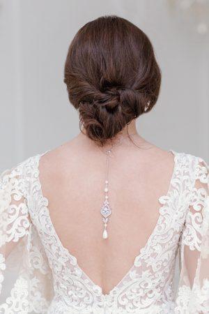 art deco bridal back necklace, crystal backdrop, pearl backdrop necklace, bridal backdrop necklace, necklaces for low back dresses