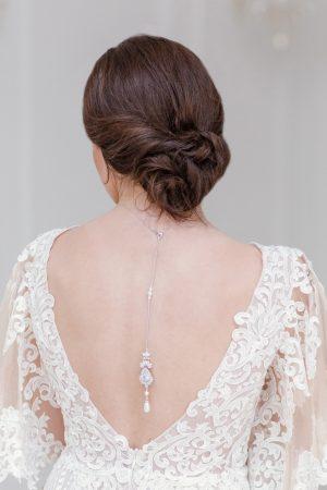 bridal backdrop necklace, crystal backdrop necklace, pearl backdrop necklace, necklace for low back dresses, silver backdrop neclace