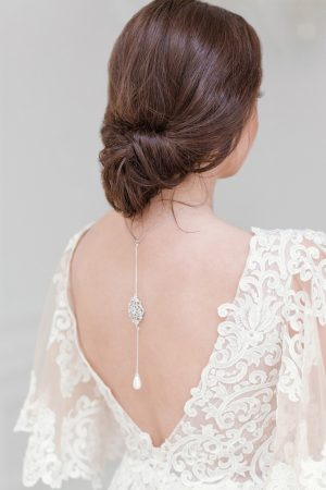 art deco wedding back necklace, bridal backdrop necklace, pearl backdrop necklace, crystal backdrop necklace, backdrop necklace wedding