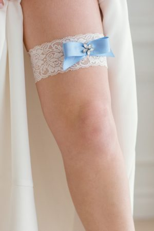 single garter, stretch lace garter,white lace garter, something blue garter, bridal accessories