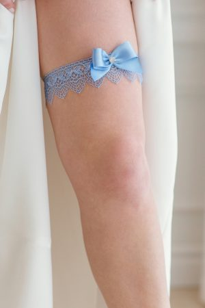 blue wedding garter, bridal shower gifts, single bridal garter, blue lace garter, something blue garter