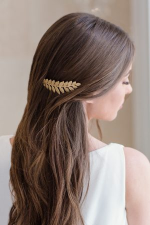 gold leaf haircomb, wedding haircomb, Grecian haircomb, laurel headpiece, Greek hairpiece