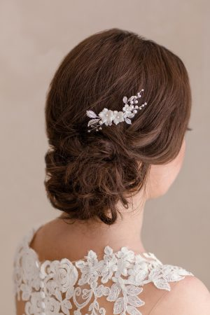 wedding hairpiece, bridal hair comb, pearl wedding hair piece, pearl hairpiece, vintage hair piece