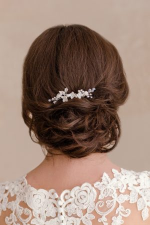 floral bridal comb, bridal flower comb, flower hair piece, pearl hair piece, pearl wedding hair piece