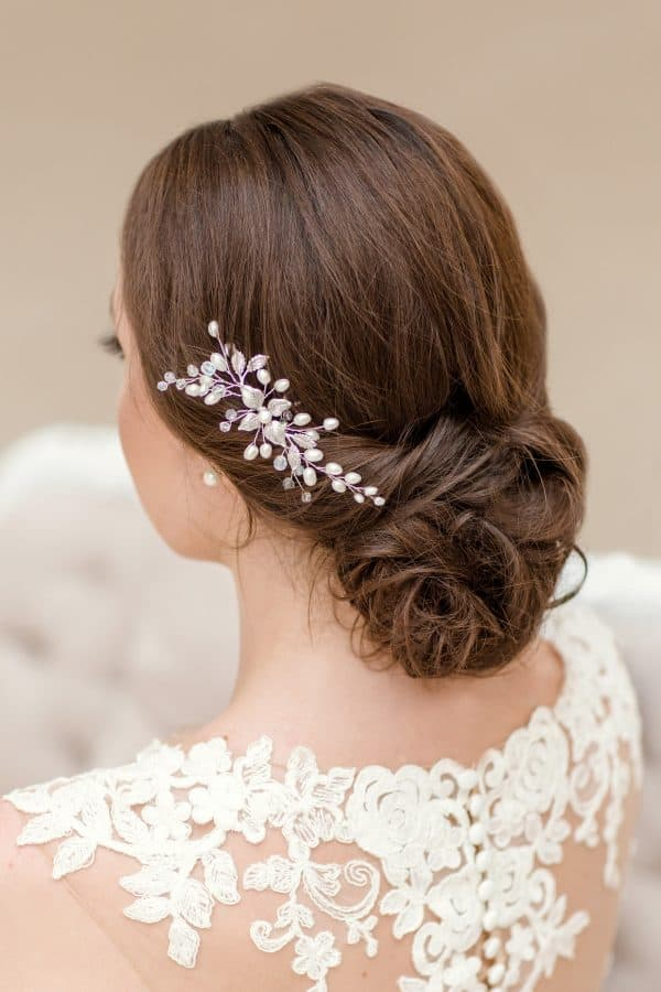 bridal hair accessory, bridal hair pin, pearl hair piece, wedding hair pin, wedding pearl hairpin