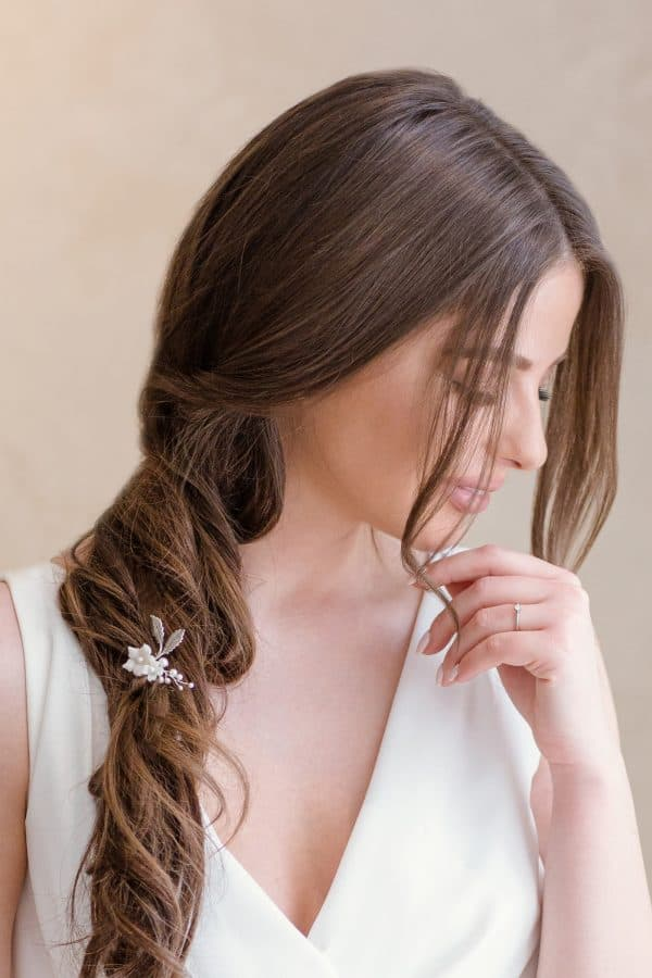 delicate bridal hairpin, floral hairpiece, wedding hair pins, bridal hair pins, bridal hair accessory