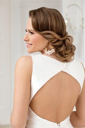 bohemian bridal earrings, large flower earrings, bridal statement earrings, gold wedding earrings, bridal jewelry