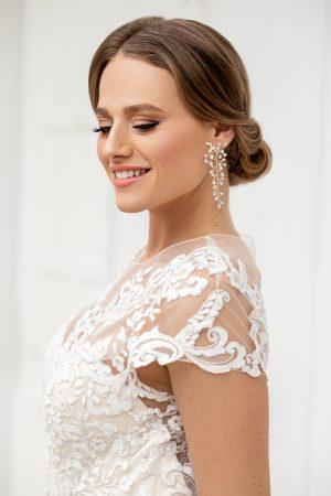 Swarovski statement earrings, crystal bridal earrings, statement wedding earrings, large crystal earrings, Swarovski bridal jewelry