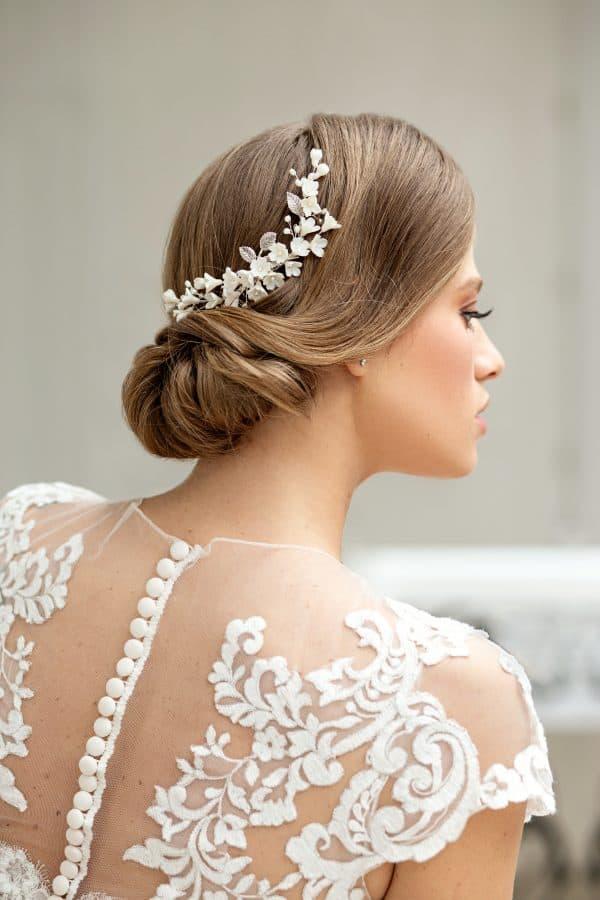 wedding comb, floral bridal comb, flower hair comb, bridal hair accessories, romantic bridal haircomb