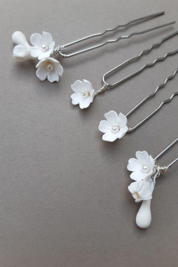 accesorii florale, ace par pentru mireasa, accesorii mirese, accesoriu romantic, mireasa boema