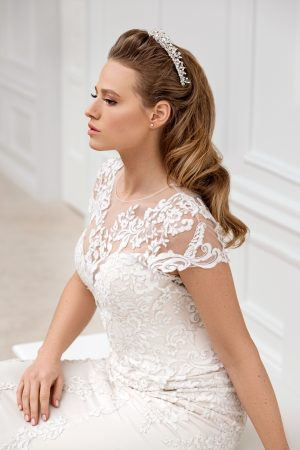 crystal bridal crown, pearl bridal headpiece, pearl bridal tiara, crystal headpiece, wedding hairpiece