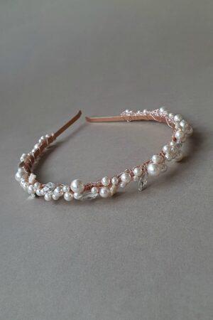 accesorii păr mireasă, accesoriu stil vintage, bentita perle mireasa, cordeluta perle mireasa, cordeluța perle Swarovski